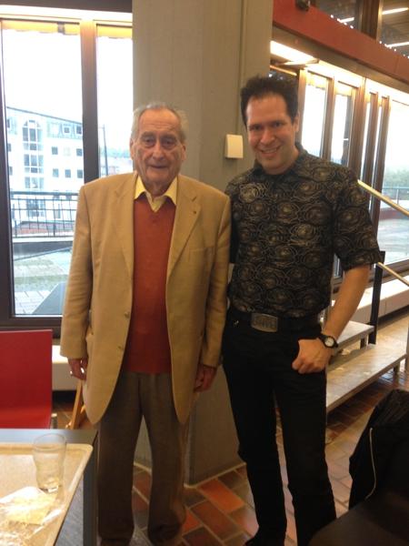 Oliver Klein mit der schwäbischen Legende Walter Schultheiss