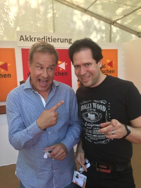 Oliver Klein mit Kabarettist Lars Reichow