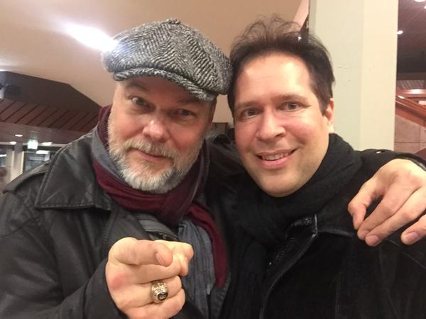 Oliver Klein mit seinem Regisseur